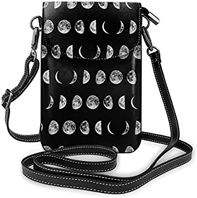 XCNGG bolso del teléfono Small Crossbody Cell Phone Purse Wallet with Credit Card Slots Lightweight Roomy Adjustable Shoulder Strap Moon Phases Crossbody Bags Handbags for Women