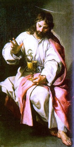 "Alonso Cano St. John the Evangelist with the Poisoned Cup - 15.5"" x 30.5"" Premium Canvas Print Gallery Wrapped"