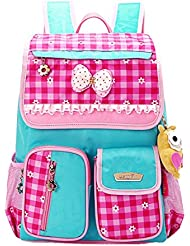 Moonwalk Cute Princess Bow Girls Backpacks for Elementary School Kids Book Bags