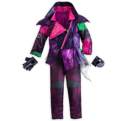 [Disney Store Deluxe Descendants Mal Costume For Girls - Size 4] (Maleficent Halloween Costumes For Girl)