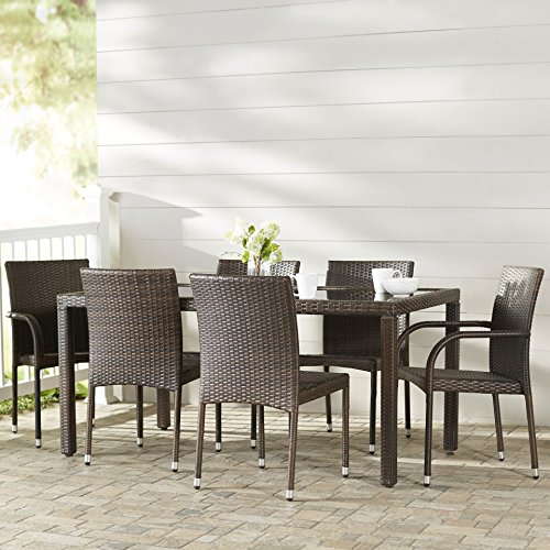 Ginsburg 7 Piece Patio Dining Set (Table, 4 Armless Chairs and 2 Armchairs) from Brayden Studio