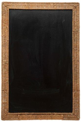 KOUBOO Wicker Framed Black Board, 24 by 36-Inch
