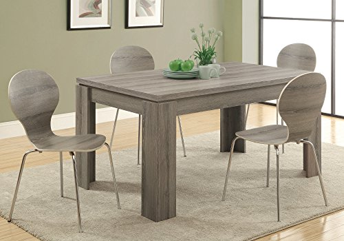 """Monarch Specialties , Dining Table, Dark Taupe Reclaimed-Look ,60""""L"""