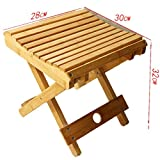 JaHGDU Wooden Chair Solid Wood Outdoor Folding Convenient Stool Fishing Stool Creative Home Children Small Bench Chair (Size : 1)