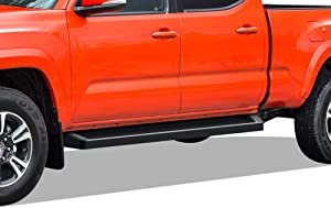 APS iBoard Black Running Boards Style Compatible with Toyota Tacoma 2005-2021 Double Crew Cab (Nerf Bars Side Steps Side Bars)