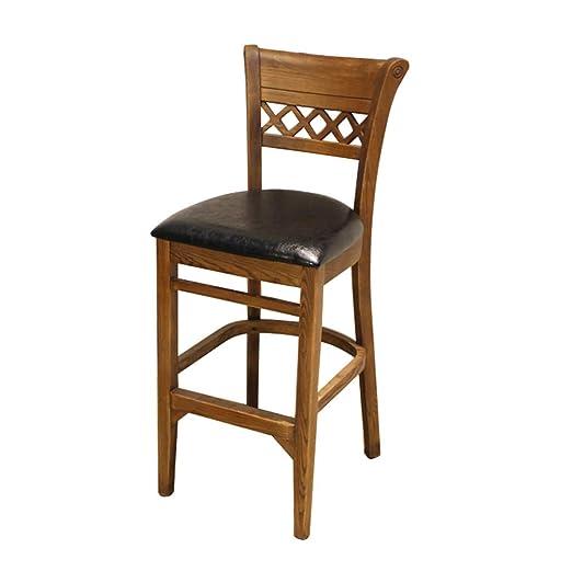 ZPWSNH Taburete de Bar de Madera Estilo Vintage para sillas Altas ...