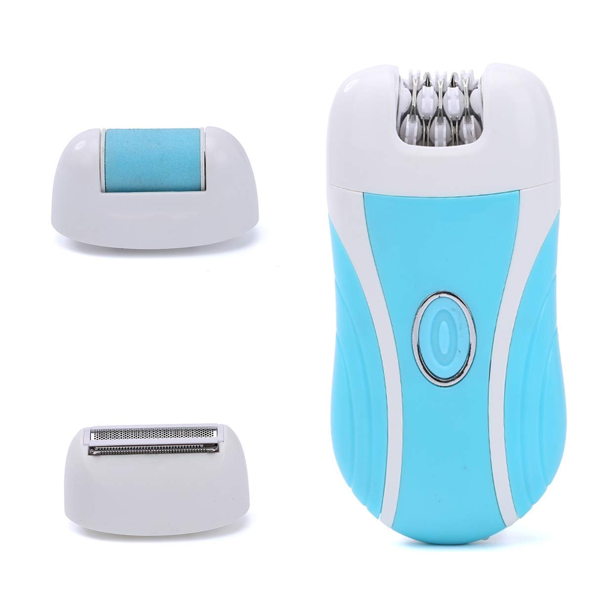 Portable Epilator Female Facial Hair Bikini Underarm Shaver Exfoliating, Portable Lady Epilator Set 3-in-1. Used to remove excess body hair.