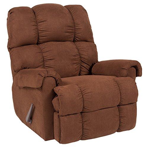 1 Microfiber Recliner - Flash Furniture Riverstone Sierra Chocolate Microfiber Rocker Recliner