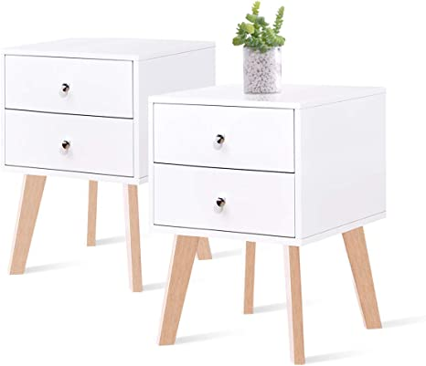 Single 2 drawer small nightstand