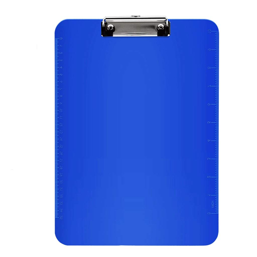 Folders File 5 Loaded a4 Writing Board Student Writing pad Plastic Clip Office Supplies Storage Clip (Color : Blue, Size : Flat Clip)