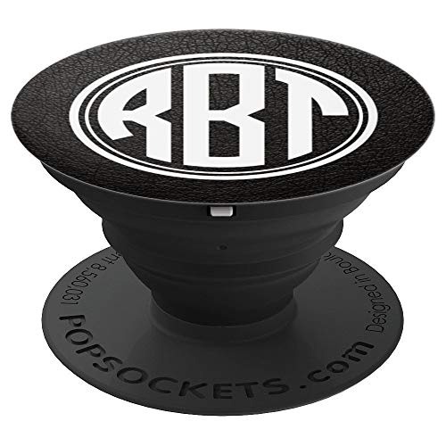 RBT Monogram Pop Socket Initials RBT or RTB on Black - PopSockets Grip and  Stand for 6add0591e14