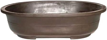 Amazon Com Bonsaiboy Home Decor Brown Mica Bonsai Pot Oval 16 75 X 11 75 X 4 0od 15 25 X 10 25 X 3 Id Garden Outdoor