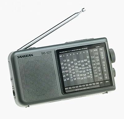Sangean America, Inc. SNGSG622 12-Band Compact World Band Receiver with LED by Sangean America, Inc.