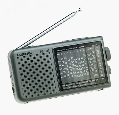 Sangean SG-622 FM/MW/SW 1-10 Compact 12 Band World Receiver