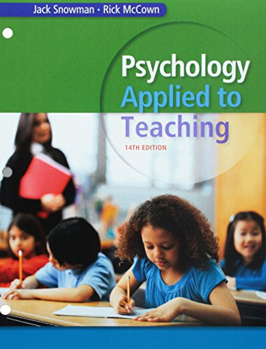 Bundle: Psychology Applied to Teaching, Loose-Leaf Version, 14th + LMS Integrated for MindTap Psychology, 1 term (6 months) Printed Access Card