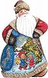 G. Debrekht Trim A Tree Dancing Santa Hand-Painted Wood Carving