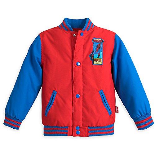 Marvel Spider-Man Varsity Jacket for Boys - Size 5/6 Red