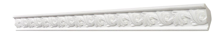DECOSA Zierprofil G27 FLORENTINE 31 x 31 mm wei/ß 5 Leisten /à 2 m L/änge