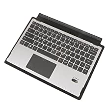 MagiDeal Wireless Bluetooth Keyboard Cover Case w/ TouchPad for Microsoft Surface 3 - Silver