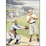 Us Baseball At The Plate Batter Up! 18''x24'' Planked Wood Sign Wall Decor Art