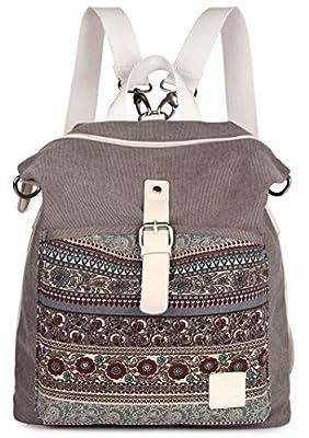 ArcEnCiel Women Girl Backpack Purse Canvas Rucksack Shoulder Bag