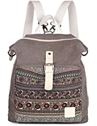 ArcEnCiel Women Girl Backpack Purse Canvas Rucksack Shoulder Bag