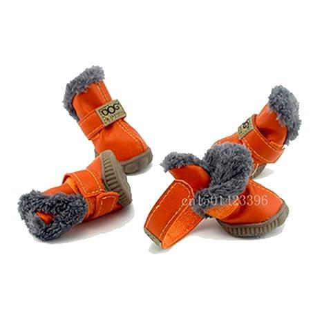 Feidaeu Zapatos de Gato para Perros Calzados Antideslizantes, cómodos y con Cordones, Botas de