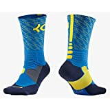 Nike Women's Hyper Elite KD Basketball Crew Socks Small (Size 4-6) Blue, Yellow