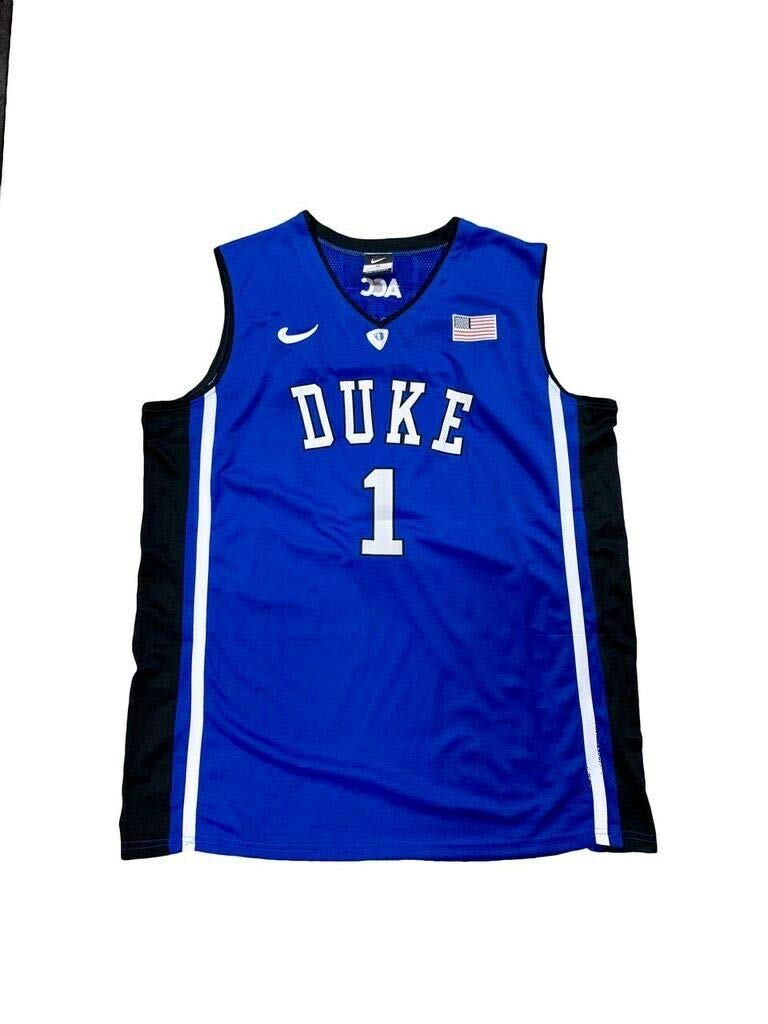 competitive price 48708 d9b55 Kyrie Irving Autographed Signed Duke Blue Devils Away Blue ...