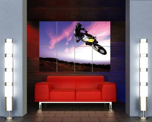 Motocross Dirt Bike Stunt Giant Poster Art Print