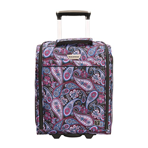 Ricardo Beverly Hills Mar Vista 2.0 16-Inch Under Seat Rolling Tote, Midnight Paisley by Ricardo Beverly Hills
