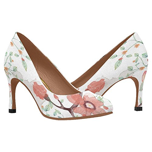 InterestPrint Womens Classic Fashion High Heel Dress Pump Shoes Multi 5