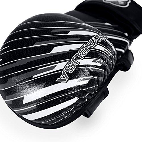 Hayabusa Ikusa Charged 7 oz Hybrid Gloves, Black/Grey, Medium