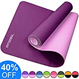 arteesol Yoga Mat, Fitness Exercise Mat Thick & Non Slip Eco-Friendly High Density Exercise Mat with Carring Strap for Yoga, Pilates and Floor Exercises (183 x 61cm x 6mm)
