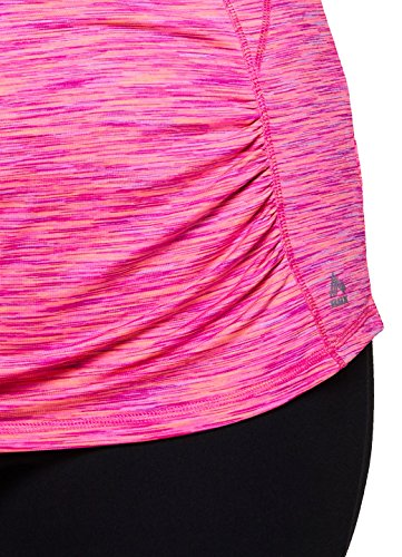 e351075d2bc55 RBX Active Women s Plus Size Activewear Deep V-Neck Tank Top Pink and Coral  Combo