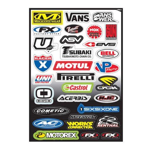 (Factory Effex Logo Sponsor Graphics Sticker Sheet C and Fits Yamaha Yz80 Yz85 Yz125 Yz250 Yz465 Yz490 Yz250f Yz450 Yz400 Yz426 Wr250 Wr450 Ttr125 Ttr230 Ttr90 Ttr110 Pw80 Rt100 Rt180 1981-2014)