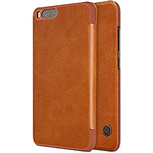 Xiaomi Mi 6 Case,DISLAND Natural Ultra Thin PU Leather Wallet Case Cover For Xiaomi Mi 6 - [Perfect Fit] - [Light and Thin] [Smart sleep and wake up]- Retail Packaging,Brown