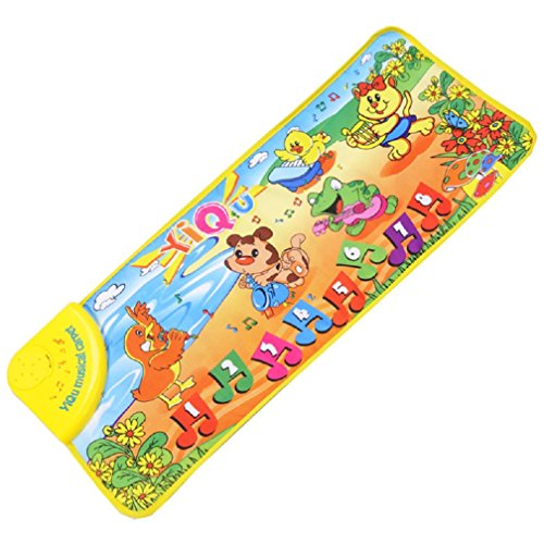 Aodicon Music Mat Piano Mat Music Mat for Toddlers-Animals Dance Baby Music Carpet Educational Toys Carpet Touch Toy by Aodicon