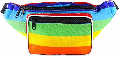 SoJourner Rainbow Fanny Pack - Festival Packs for men, women | Cute Pride Waist Bag Fashion Belt Bags