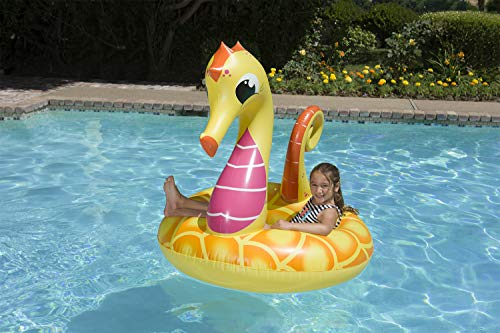 Poolmaster 48-Inch Swimming Pool Tube Float, Seahorse, Yellow