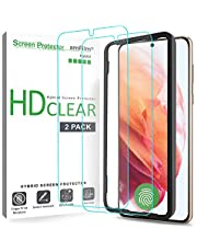 amFilm (2 Pack) Screen Protector for Samsung Galaxy S21 (6.2 Inch), Case Friendly (Easy Install) Hybrid Film Compatible with Fingerprint Sensor (2021)