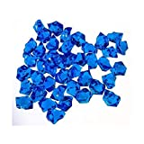 Translucent Royal Blue Acrylic Ice Rocks for Vase Fillers or Table Scatters