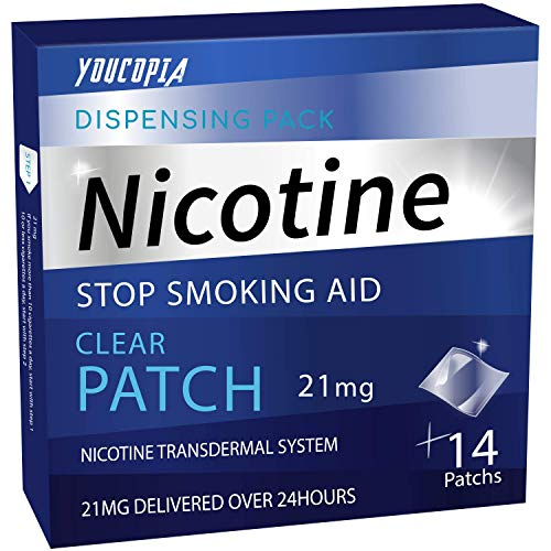 YouCopia Nicotine Transdermal System Stop Smoking Aid Patches, with Smart Controlled Release Technology, 21mg Delivered Over 24 Hr - Each 14