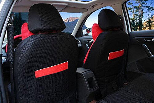 20pcs/SET new 2016 luxury Women love cartoon Lover Seat Covers for cars Front & Back car covers four seasons Universal car seat cover car interior red & Black V5611 by Maimai88 (Image #2)