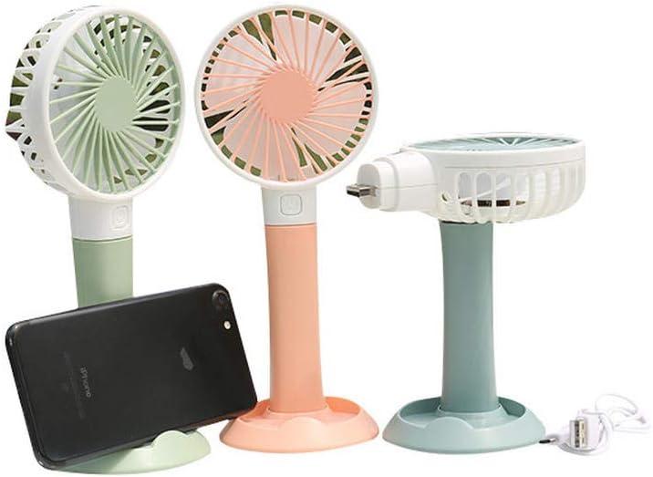 Mmyu Mini Fan Brushless Mute Wind Desktop Fan Portable USB Charging Mini Fan Straight Pink