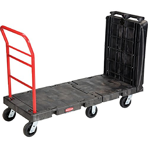- Rubbermaid Commercial 4496BLA Convertible Platform Truck, 1000-lb Cap, 24 1/4 w x  61 1/2 d x 42 1/8 h, Black