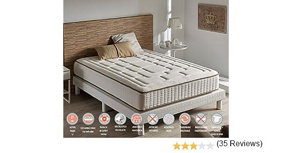 Zeng - Colchón Visco Luxury Cashmere Confort 180x180x27 cm: Amazon.es: Hogar
