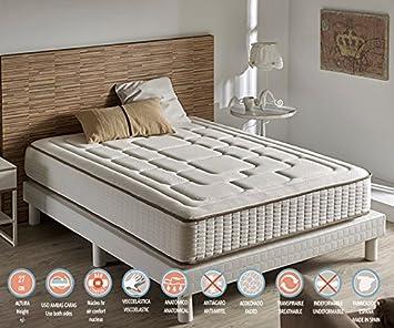 Zeng - Colchón Visco Luxury Cashmere Confort 150x180x27 cm: Amazon.es: Hogar
