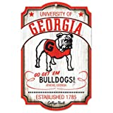 NCAA College Vault Georgia Bulldogs 11-by-17 Wood Sign