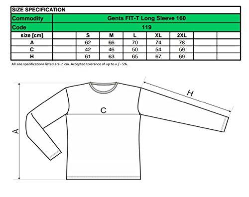 2er pack Herren Langarmshirt Slim Fit (X-Large, Weiß)